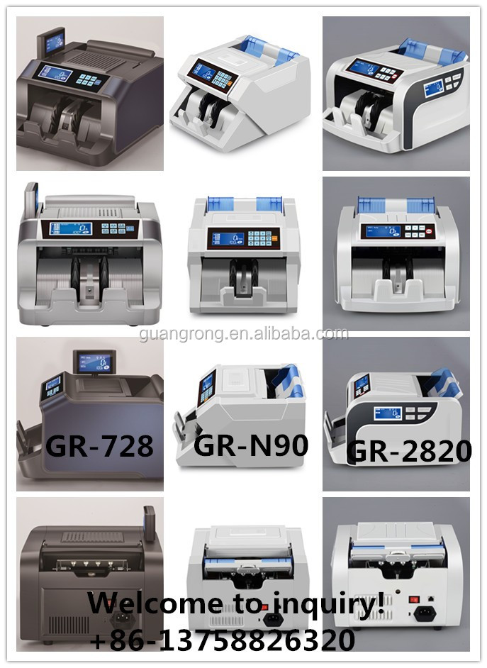 2016 new product!touch screen! GR-N95 UV/MG money counting machine with high quality