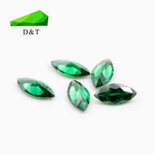 China gemstone factory wholesale 6x4mm marquise shaped green Cubic Zirconia