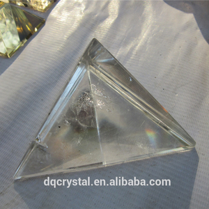 Natural small clear quartz crystal singing pyramids for healing