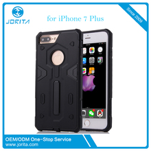 Luxury hard plastic + soft rubber hybrid combo anti-drop armor case for iPhone 7plus