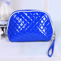 Low MOQ Small Handy Clutch Plain Quilted Mirror PU Cosmetic Clutch Bag