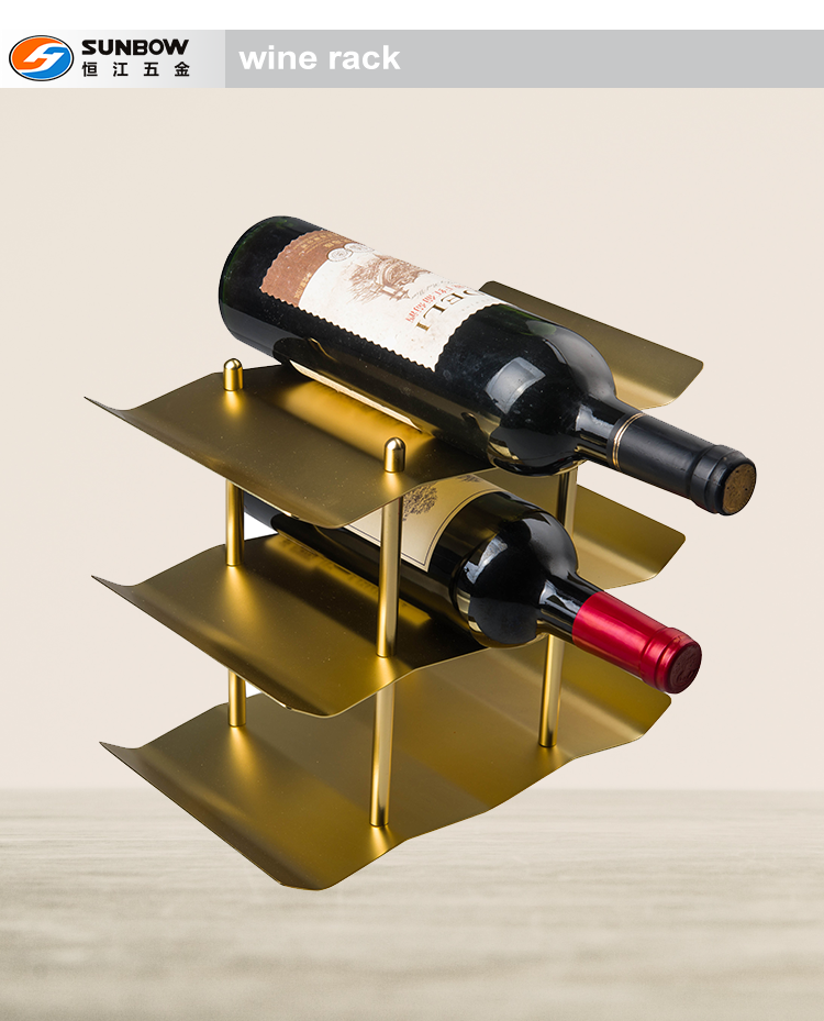 China Supplier Wholesale metal commercial wine bottle display rack