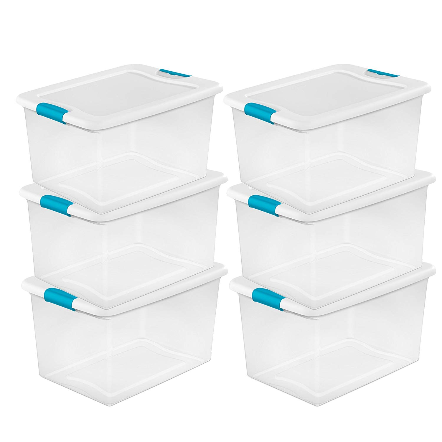 MRT SUPPLY 64 Quart Clear Plastic Storage Boxes Bins Totes w/Latches (6 Pack) Ebook