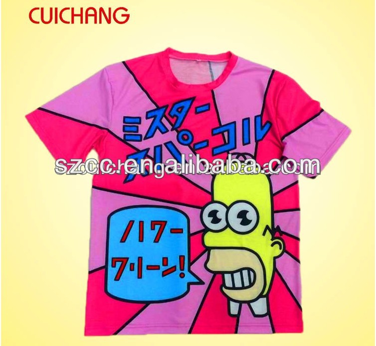 Fashion Design Printed Men T-Shirt with Custom Design