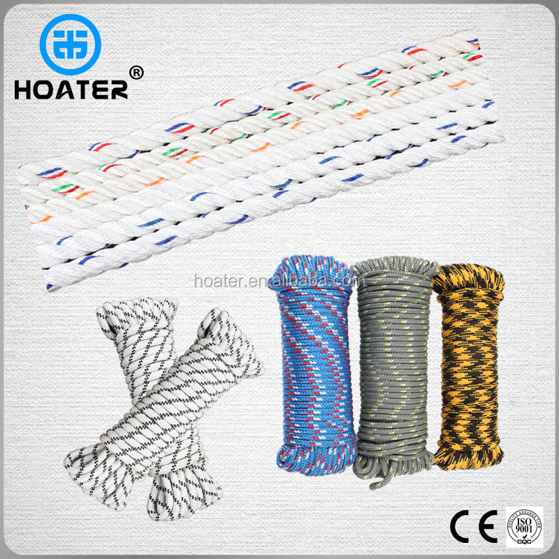 8-year Professioanl Braided/3 Strand Twist Polypropylene Rope