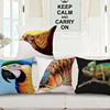 2015 vivid 3d digital print animal bird cotton linen new design cushion cover