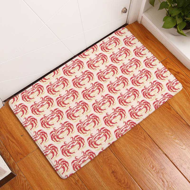 cd32d490d725 Coral Printing Flannel Carpet Hippocampus Pattern Mat For Living Room  40x60cm Door mat Rectangle Tapete - us898