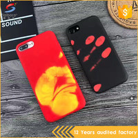 Latest color changing thermal heat induction mobile phone case for iphone 6 6plus 7 7plus