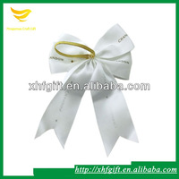 Christmas satin fabric pre-tied ribbon bows