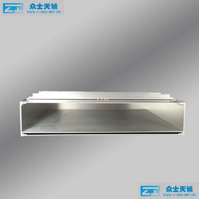 silver 2U/89x483x300mm upper cover can be open Server Chassis 19 inch standard aluminum enclosure