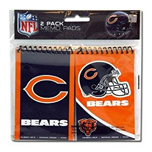 "NFL Chicago Bears 2pk Spiral 3x5"" Memo Pad"