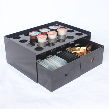 20 Slots K CUP 2 Drawers Acrylic Nespresso Pod Holder, Lucite Coffee Pods  Storage