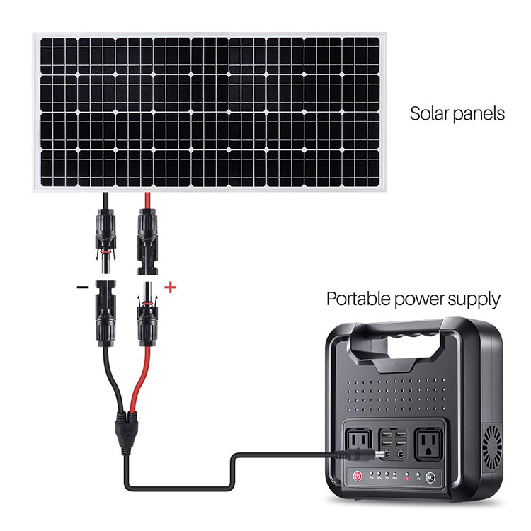 1.5m 16AWG Solar Male Female Connector to DC 5.5mm x 2.1mm Solar Power Extension Cable for Solar Panel and Portable Generator
