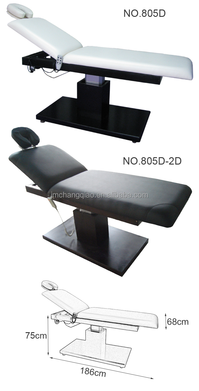2016 Hot Sale spa furniture 805D remote control massage table