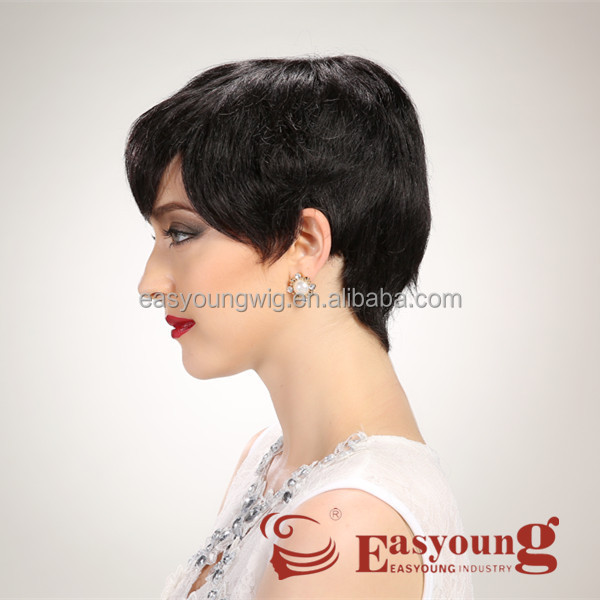 Black short hair wigs for african women, fashion hair style wigs for old ladies