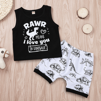 XH1507B Hot Sale Kid Girls Clothes Sets Printed Summer Cotton Kids Clothing Set