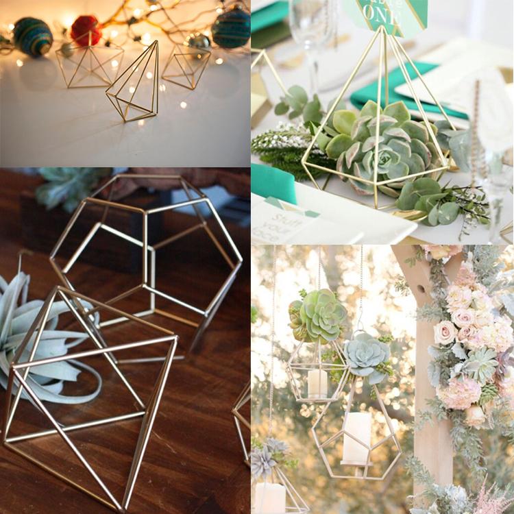 Wholesale Geometric Wedding Decor Centerpieces Long Stemmed