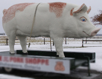 Giant Outdoor Garden Animal Fiberglass Pig Statue