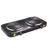 2500W double burner electric solid cooking hot plate electric stove with double solid cast iron top