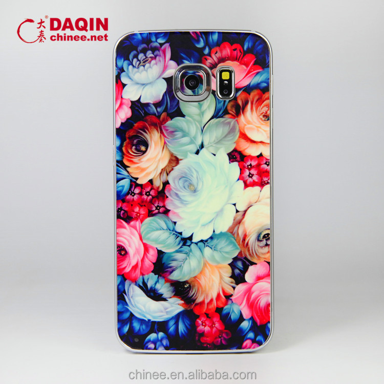 Customized mobile skin phone sticker cut for samsung s6