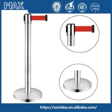 MAX stainless steel queue up stand,queue barrier,retractable belt barrier