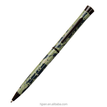 advertising full print military style twist mechanism metal ball pen