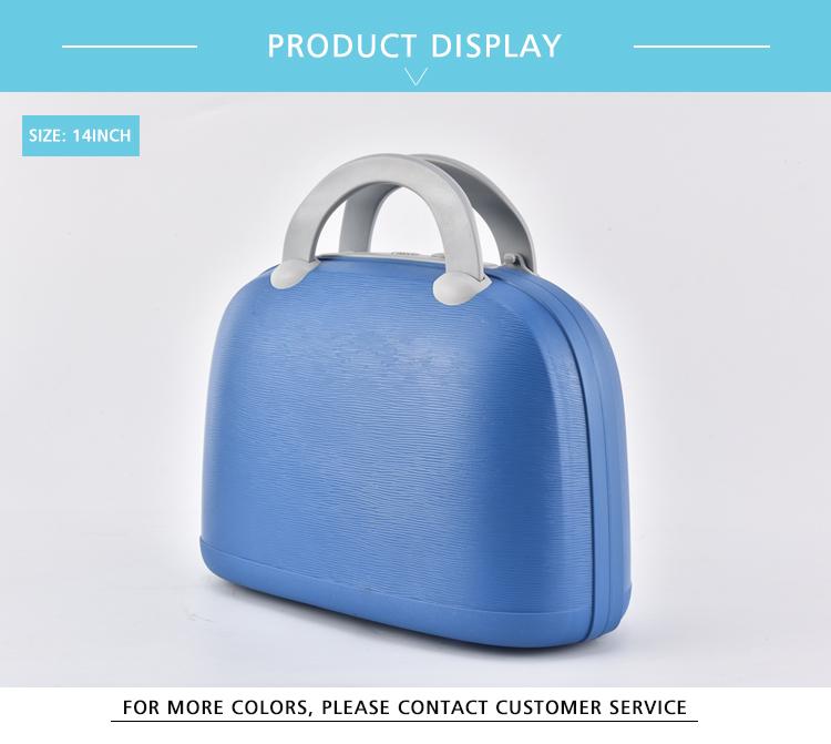 "BUBULE 14"" PP Beauty Makeup Box And Women Shoulder Cosmetic Bag Handbag With Mirror"