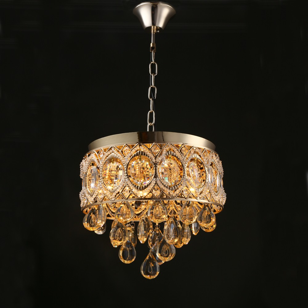Modern Gold Crystal Ceiling Chandelier Light Luxury