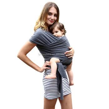 Alibaba Wholesale Rose Red Baby Sling Stretchy Wrap Carrier Baby