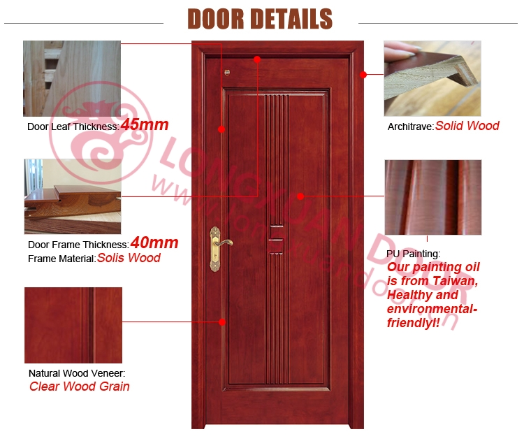 Luxury solid wood main door new design villa entrance door for New main door