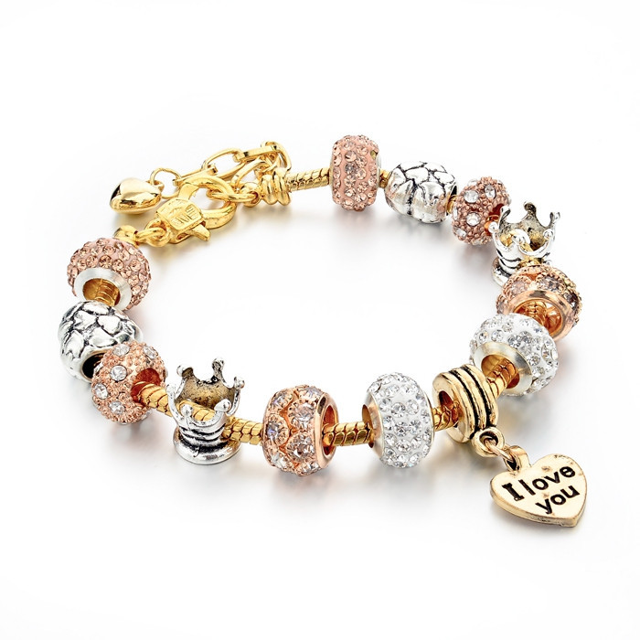 925 Sterling Silver Jewelry Murano Crystal Beads Fit Pandora Bracelets For Women Friendship Charm