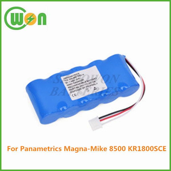 6V 3000mAh Ni-MH rechargeable replacement battery for panametrics KR1800SCE Magna-Mike 8500, thickness gauge tester battery