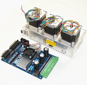 3 axis cnc kit 2nm nema 23 stepper motor tb6560 for cnc for 3 axis nema 23 stepper motor driver controller cnc kit