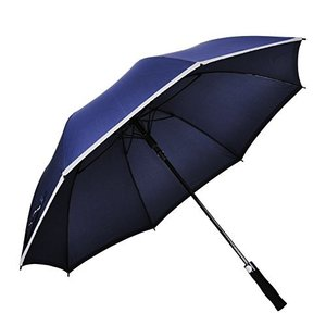 big size golf promotional umbrella with reflective edge