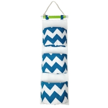 Lined/Cotton Fabric 8 Pockets Wall Door Closet Hanging Storage Bag Organizer with Wooden Hanger