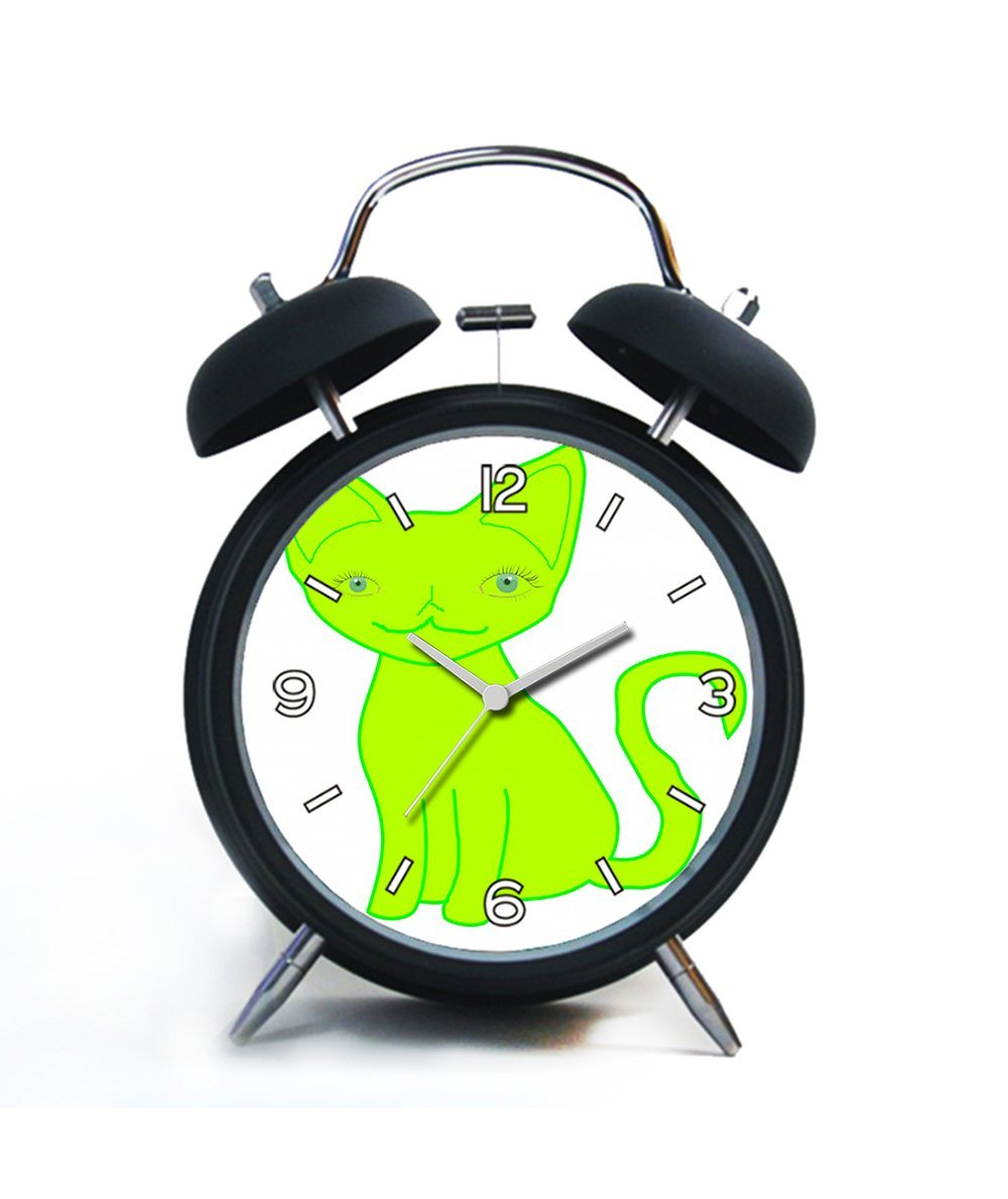 Twin Bell Analog Alarm Clock-Loud Alarm Clock(black)Custom pattern-199.Green Cat Free Stock Photo - Public Domain Pictures