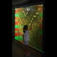 Custom Bubble Water Wall with Lights and Remote Control LED Screens & Room Dividers