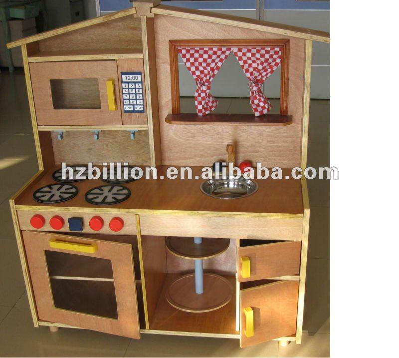 Suituable para ni os pretend play cocina de juguete de - Cocinas de madera ninos ...