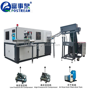 2 cavity automatic pet blowing machine/5000 bph pet blow moulding machine price