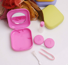 Cute mini pocket contact lenses Mirror HOLDER KIT Travel case easy to carry containers for contact lenses