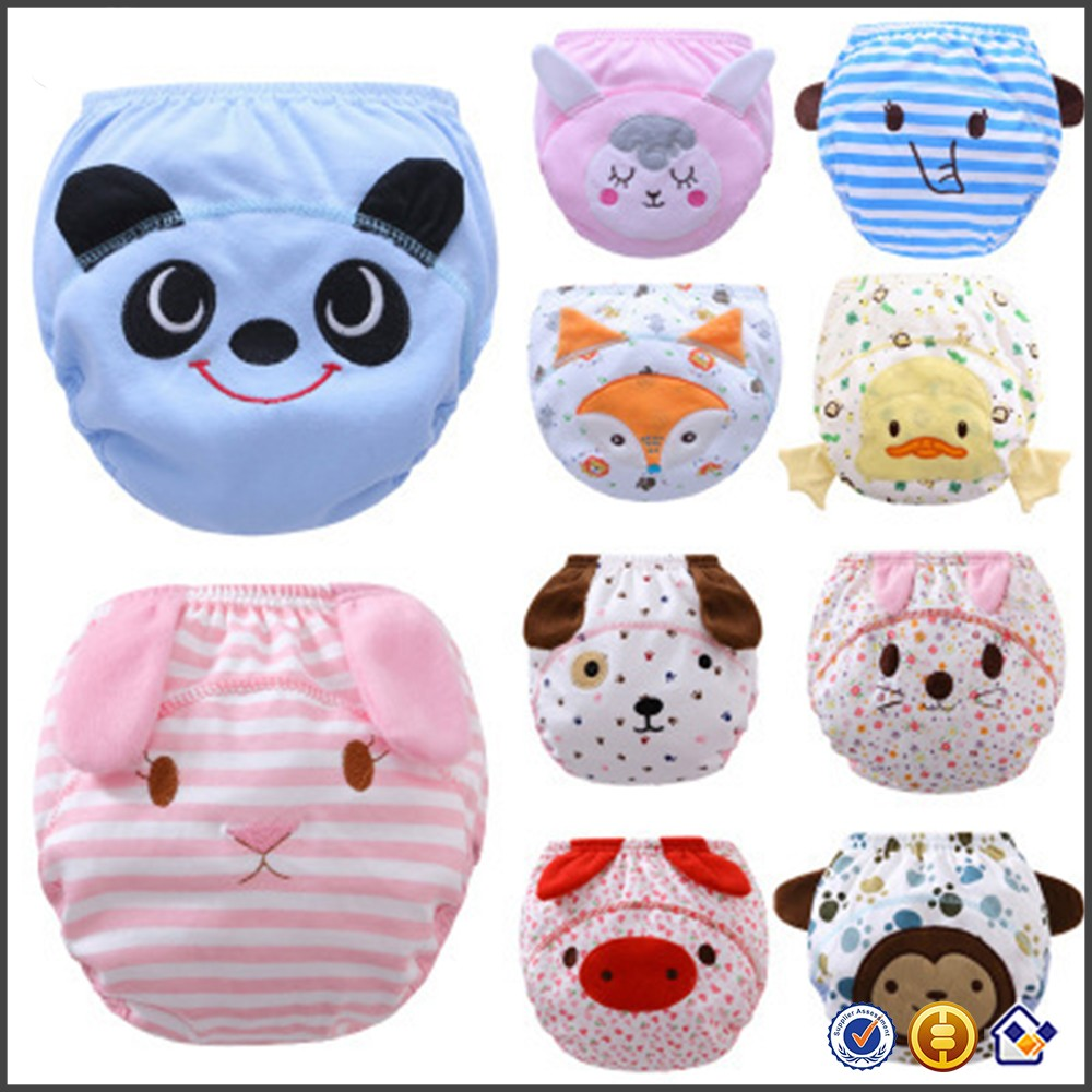 KY new arrival elastic waistband cloth washable sleepy waterproof baby diaper wholesale