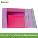 Light pink and Fushia pink POLY bubble mailer bag wholesale with custom design