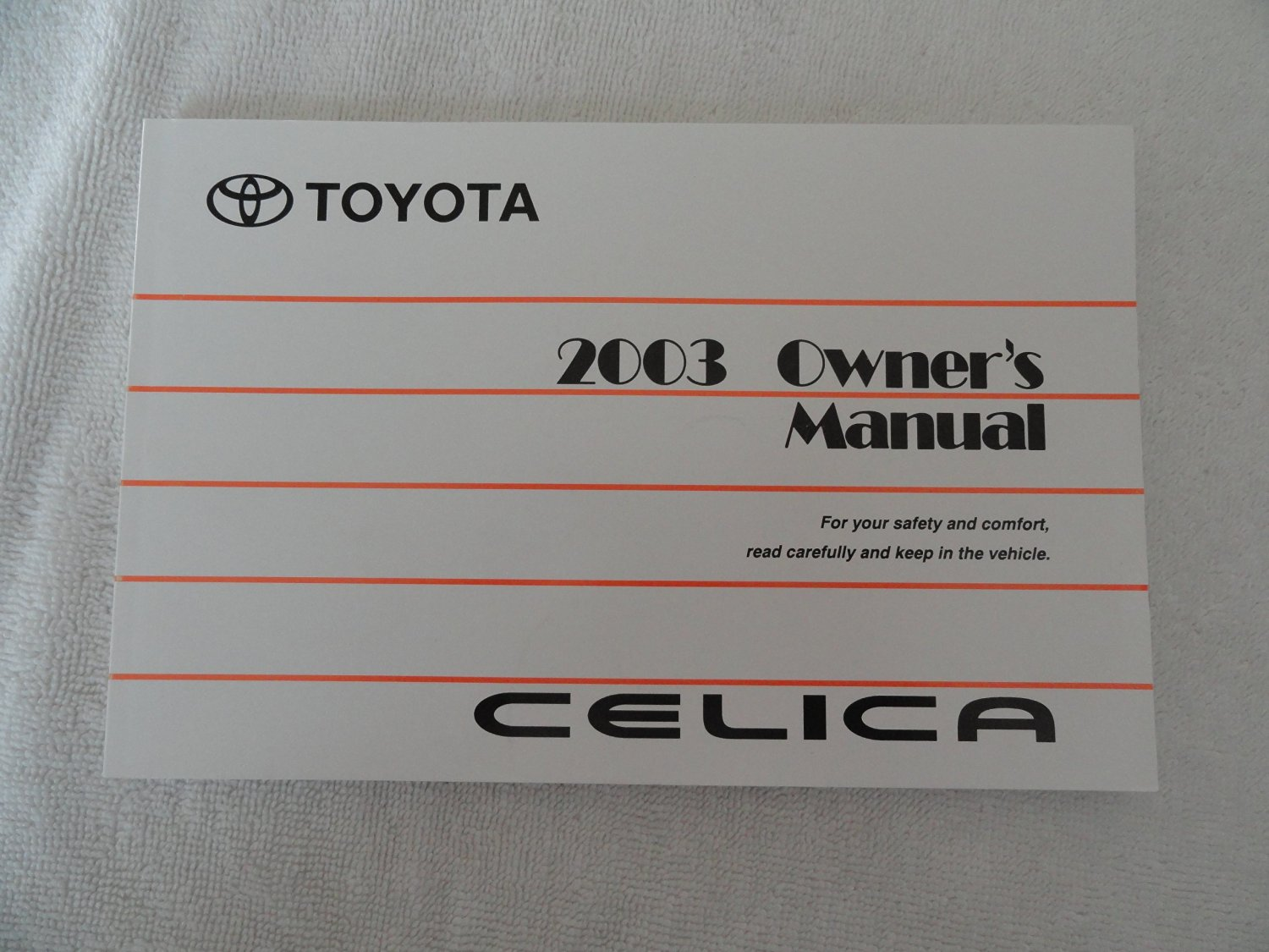 Get Quotations · 2003 Toyota Celica Owners Manual