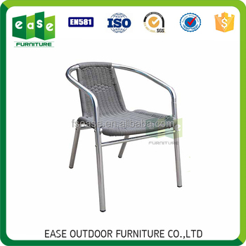 Outdoor Ratan Cheap Stacking Coffee Shop Chairs For Sale  E7201