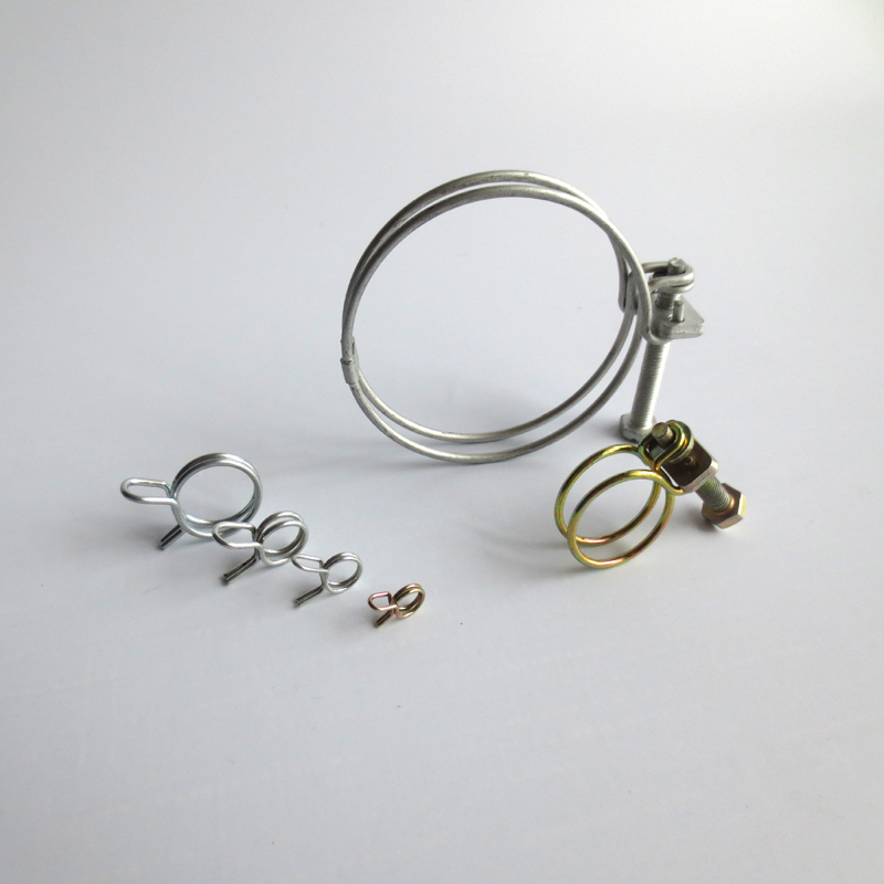 customized metal water hose clamp/concrete pump rubber hose clamp/fuel line hose clamps