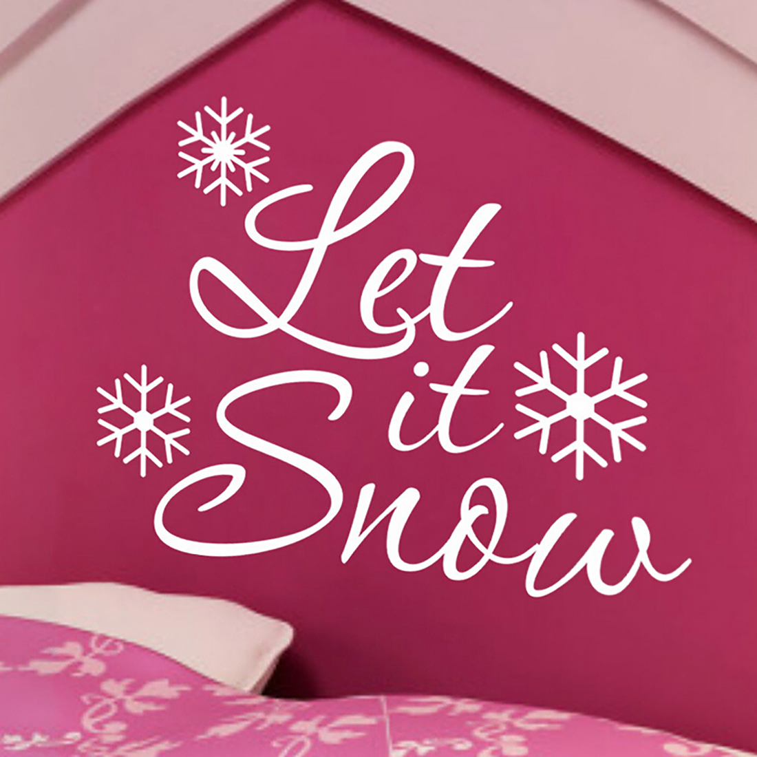 snowflake wall decal promotion shop for promotional snowflake wall decal on. Black Bedroom Furniture Sets. Home Design Ideas