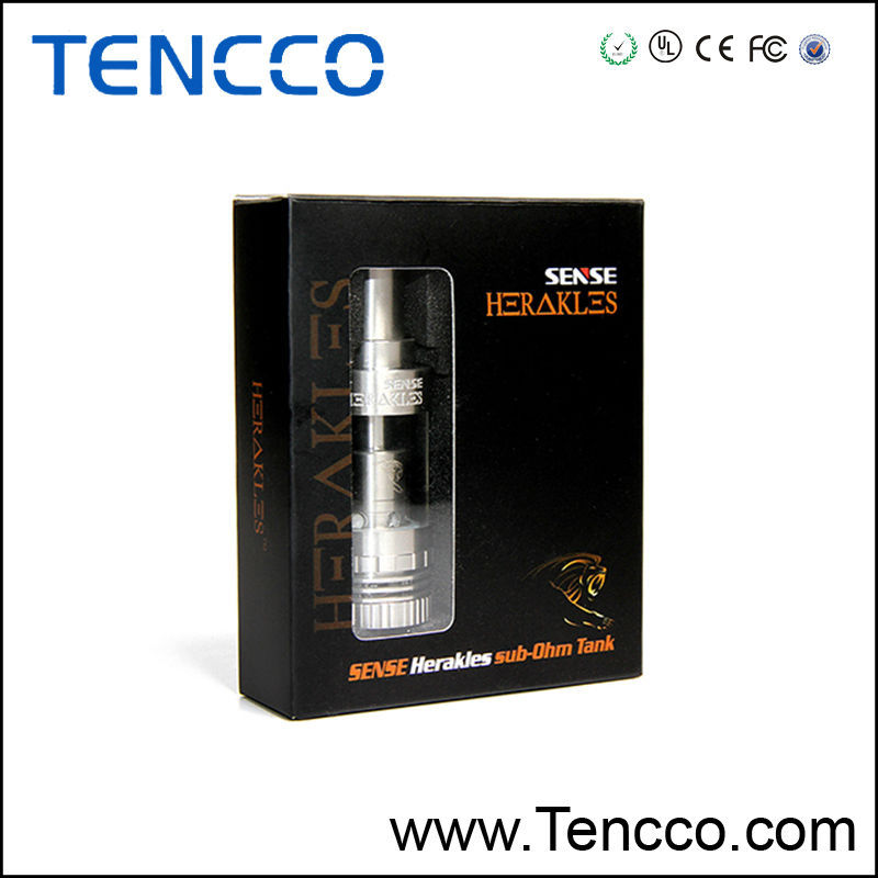 New Sub Ohm Tank Sense Herakles tank with 0.2 and 0.6 ohm coils fit for High Wattage BOX Mod