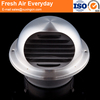 HVAC kitchen waterproof stainless steel wall pvc air vent cap
