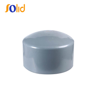 UPVC/PVC Pipe Fitting Plastic End Cap for Water Supply