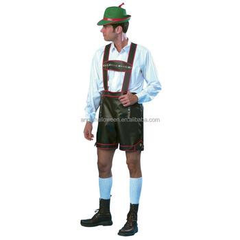 Adultos bávara Oktoberfest lederhose tradicional hombre alemán Halloween  traje nuevo AGM4172 77f60988dba